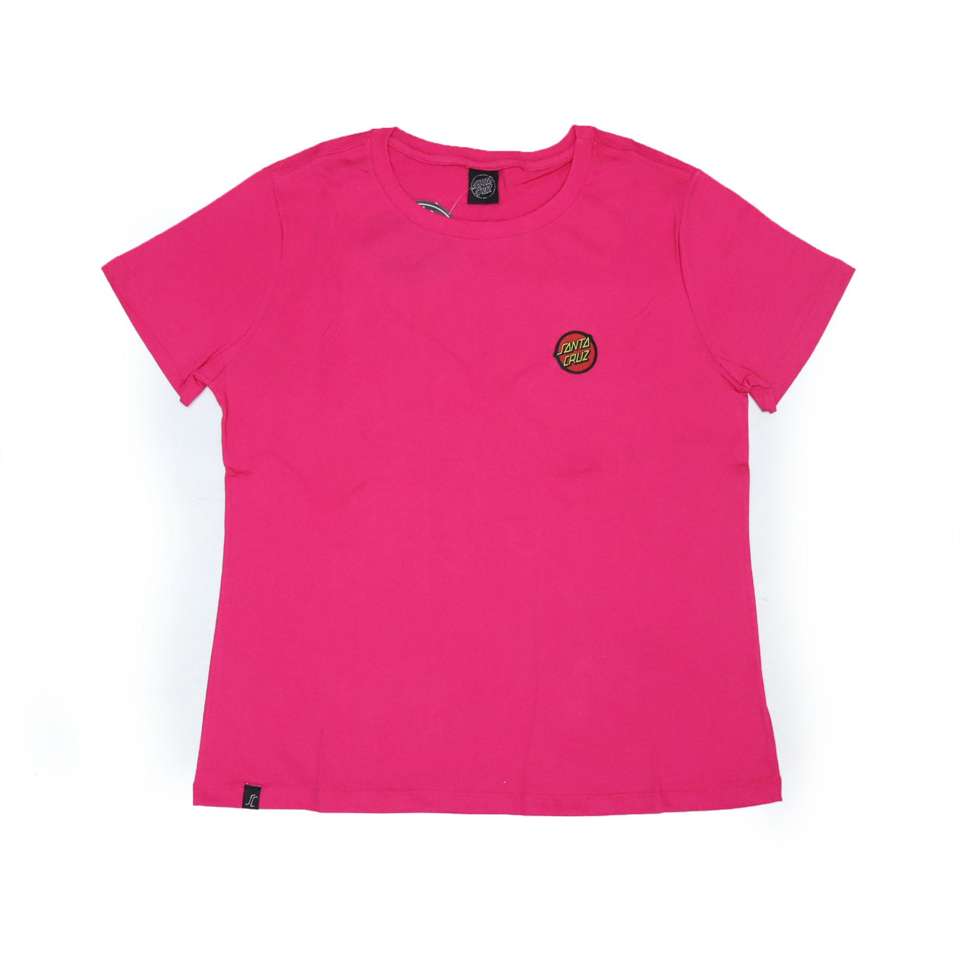 Camiseta Feminina Santa Cruz Classic Dot Chest - Rosa Pink