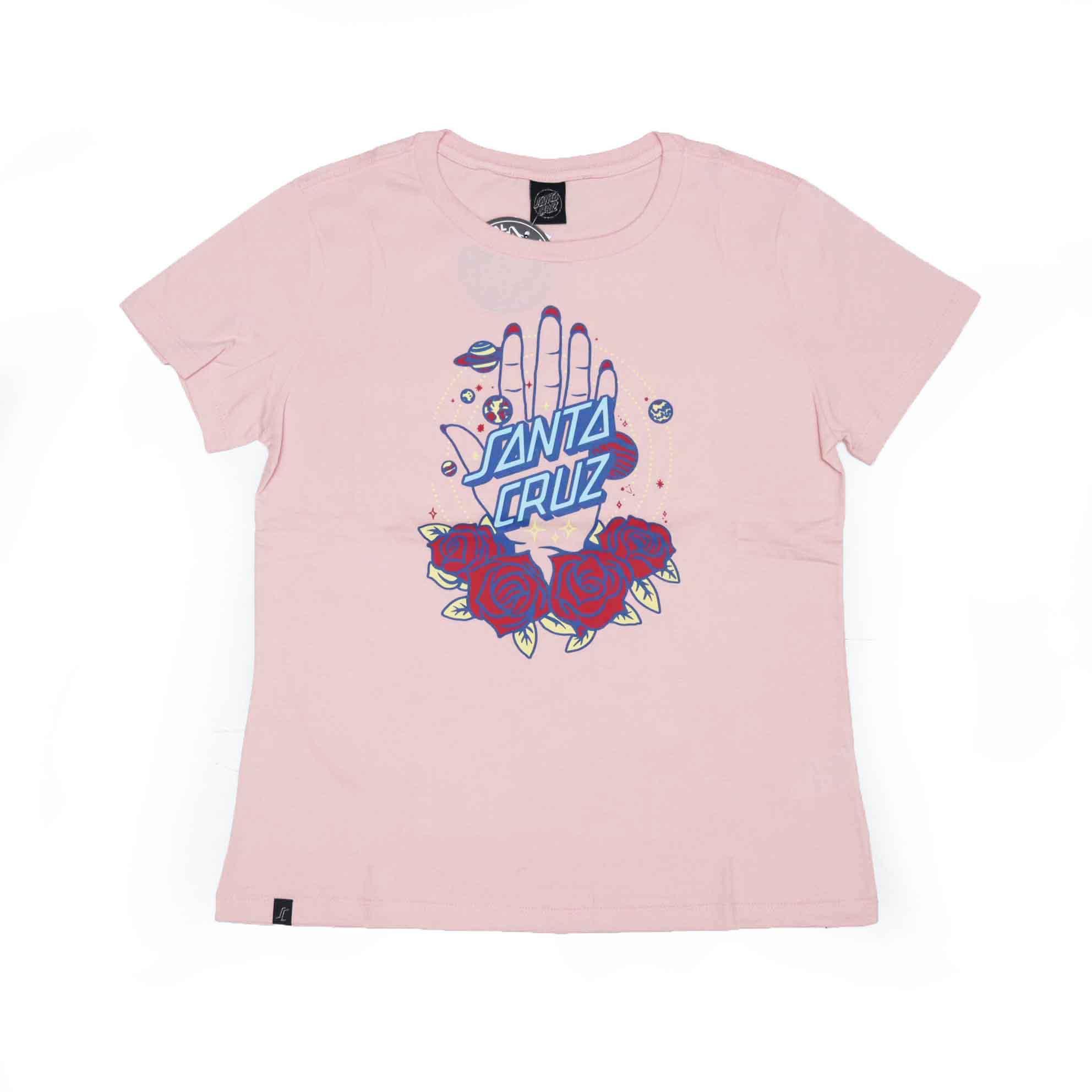 Camiseta Feminina Santa Cruz Cosmic Awakening Front - Rosa Claro