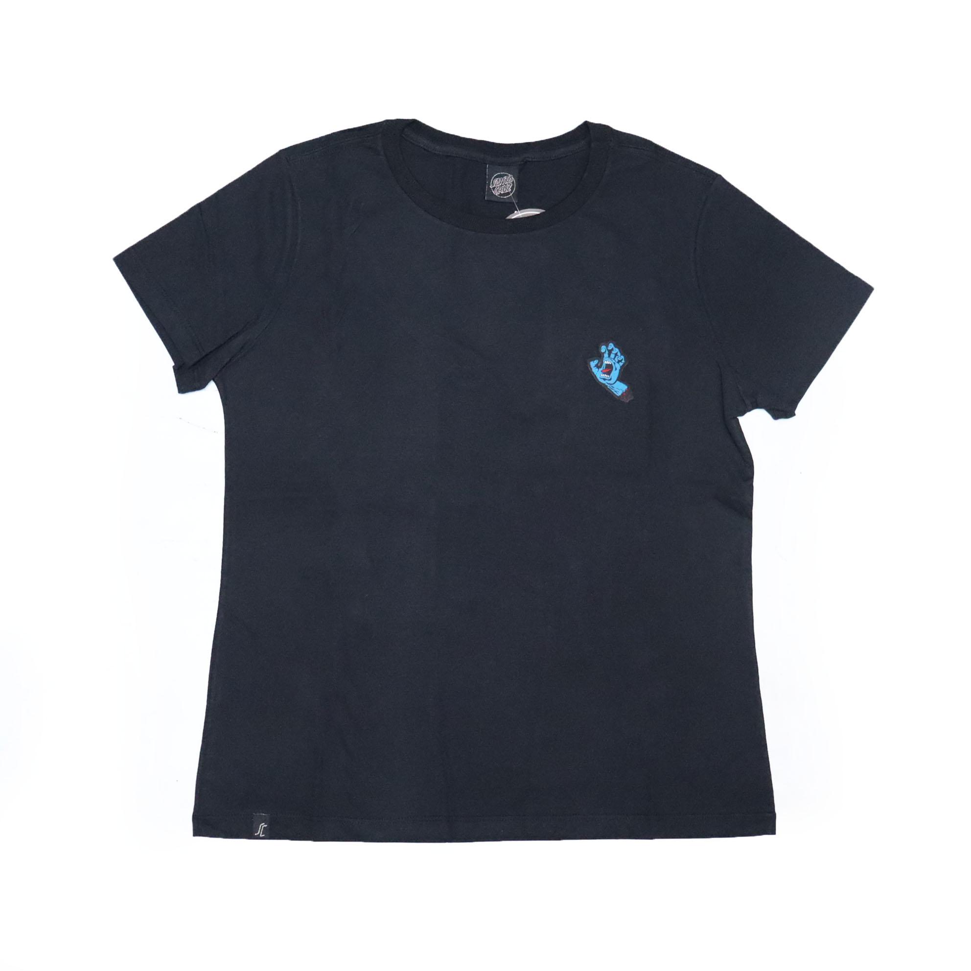 Camiseta Feminina Santa Cruz Hand Chest - Preto/Azul