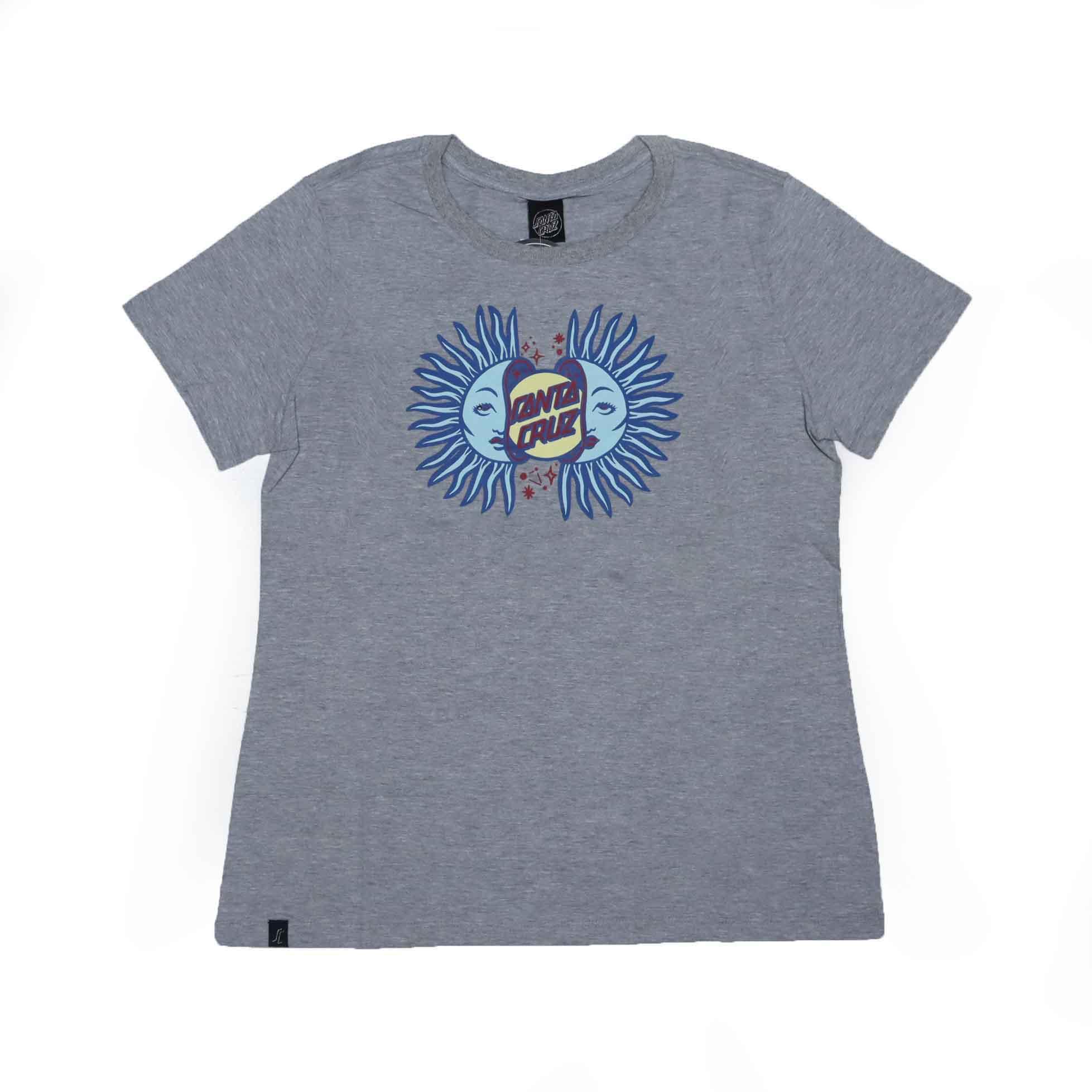 Camiseta Feminina Santa Cruz Split Sun - Cinza Mescla