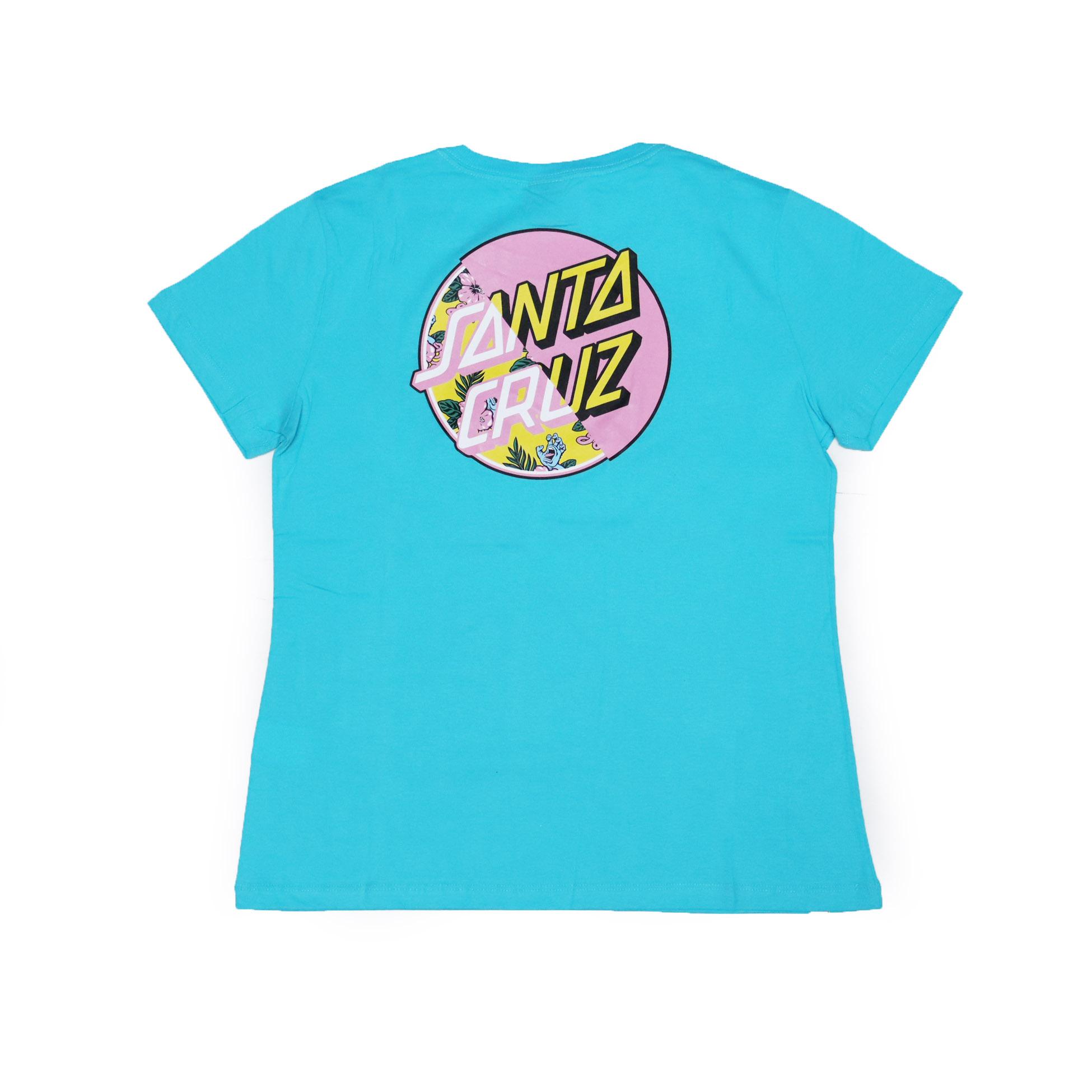 Camiseta Feminina Santa Cruz Vacation Other Splice - Azul Turquesa