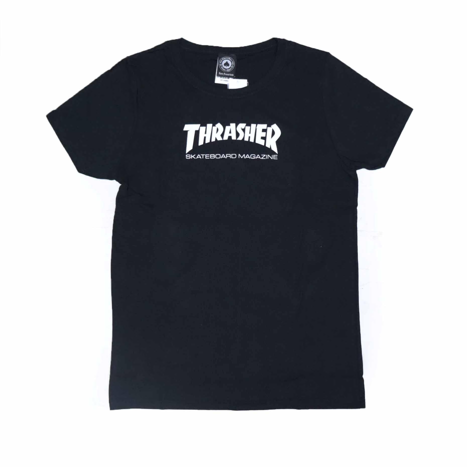 Camiseta Feminina Thrasher Magazine Skate Mag - Preto