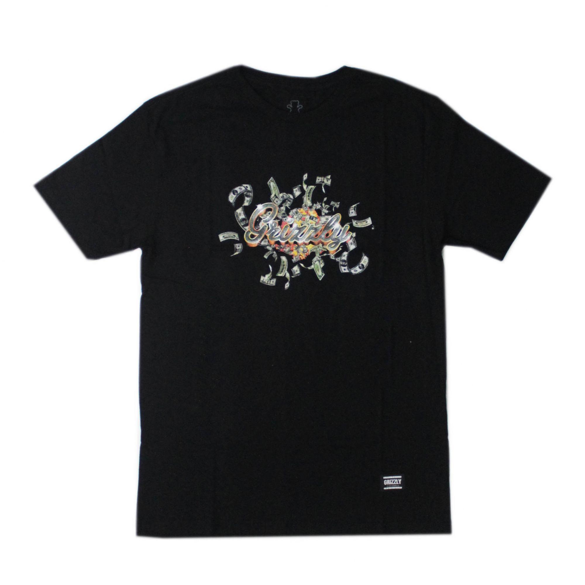 Camiseta Grizzly Ballin - Preto