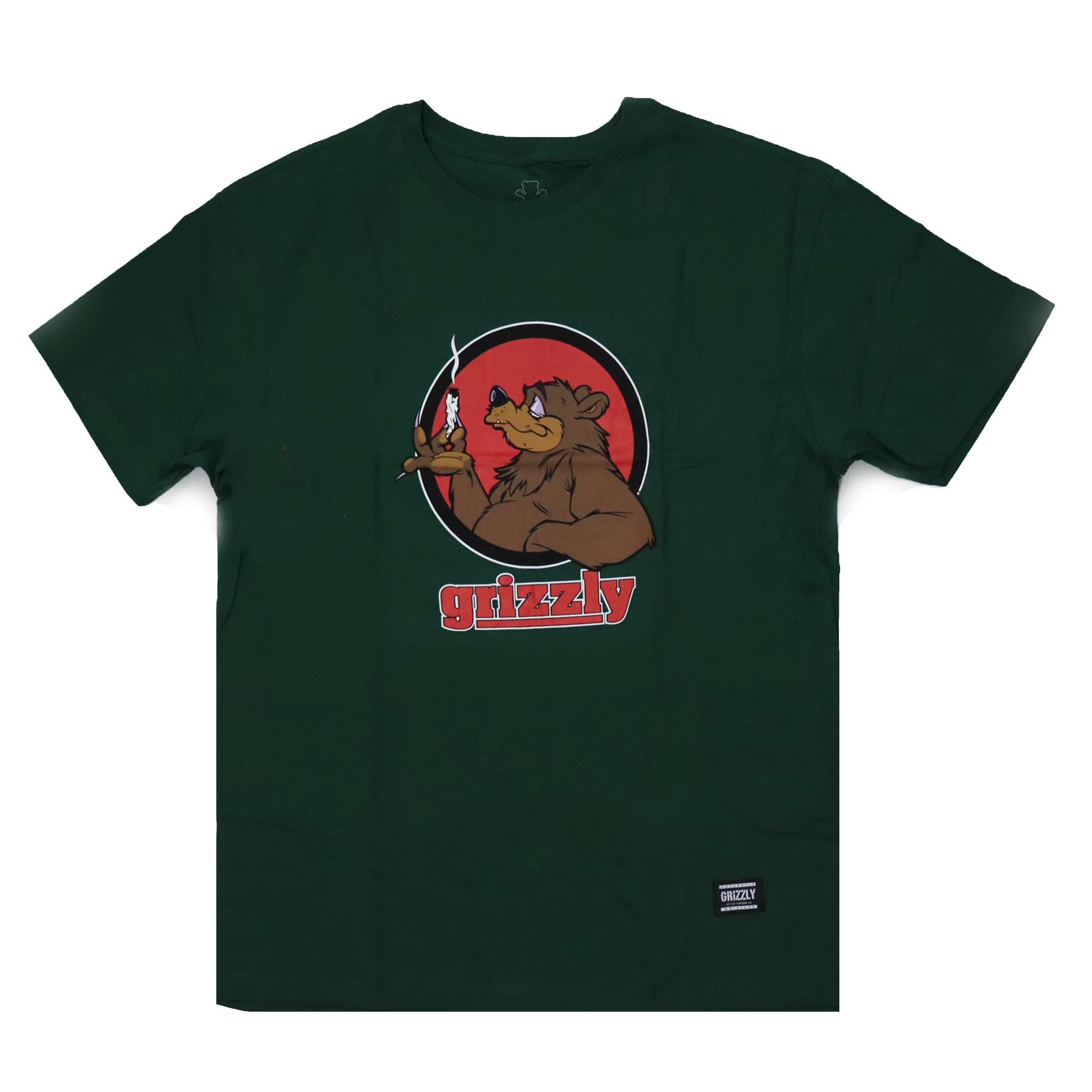 Camiseta Grizzly Bear Blunt - Verde Militar