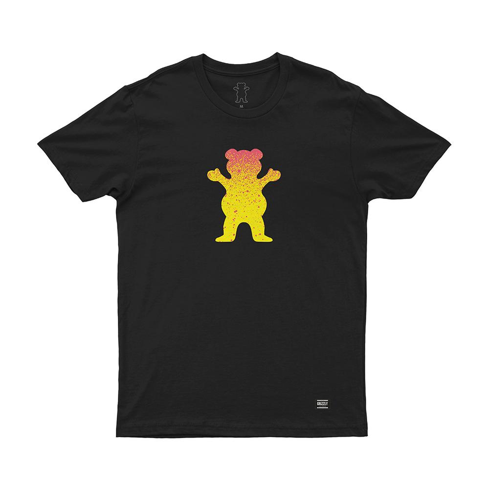 Camiseta Grizzly Bear Fadeway - Preto
