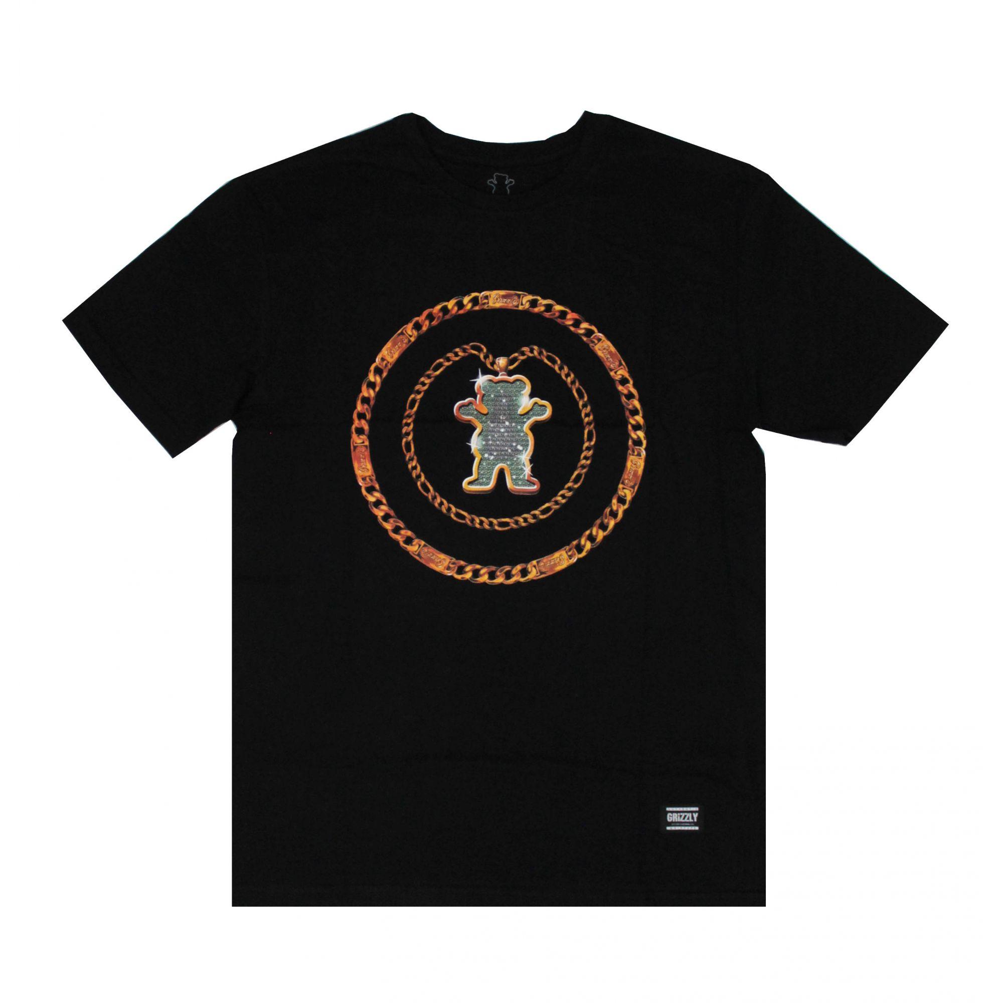 Camiseta Grizzly Chain Tee Preto