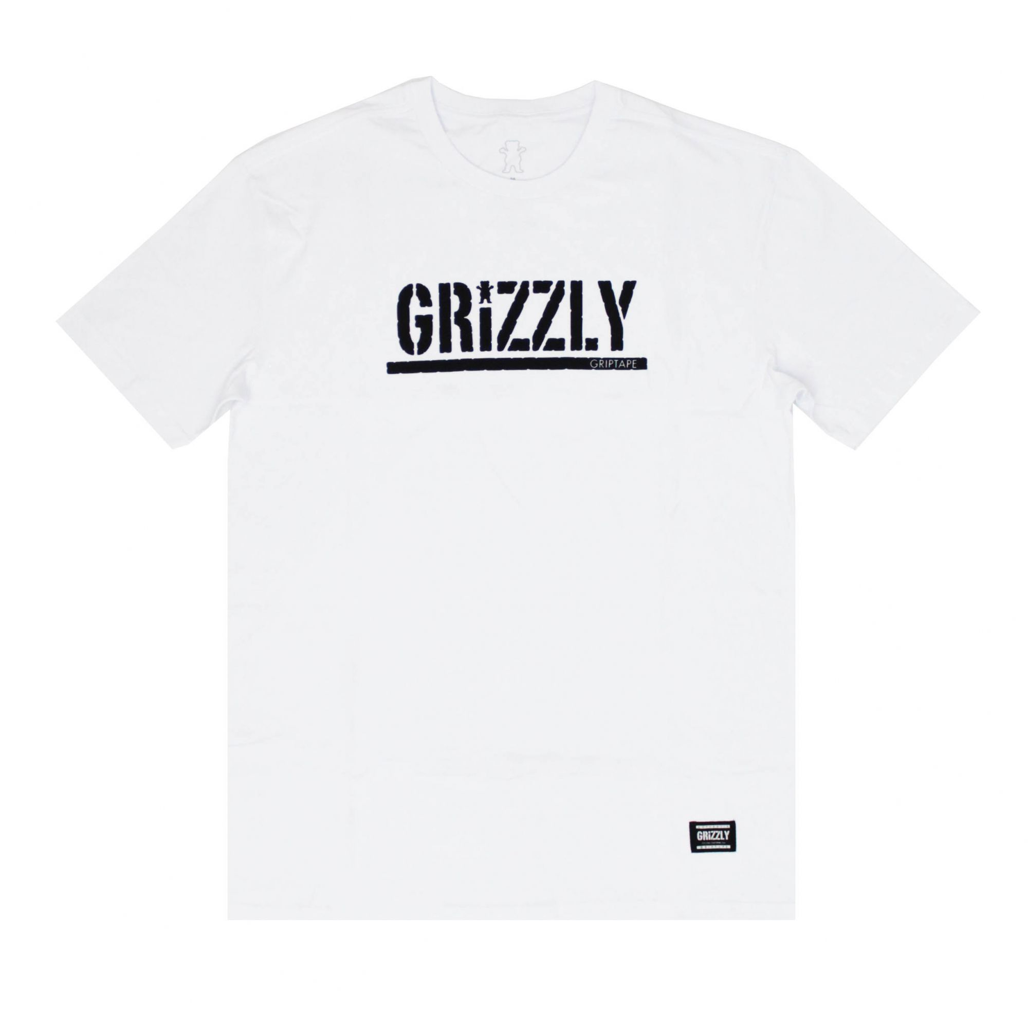 Camiseta Grizzly Classic Stamped - Branco/Preto