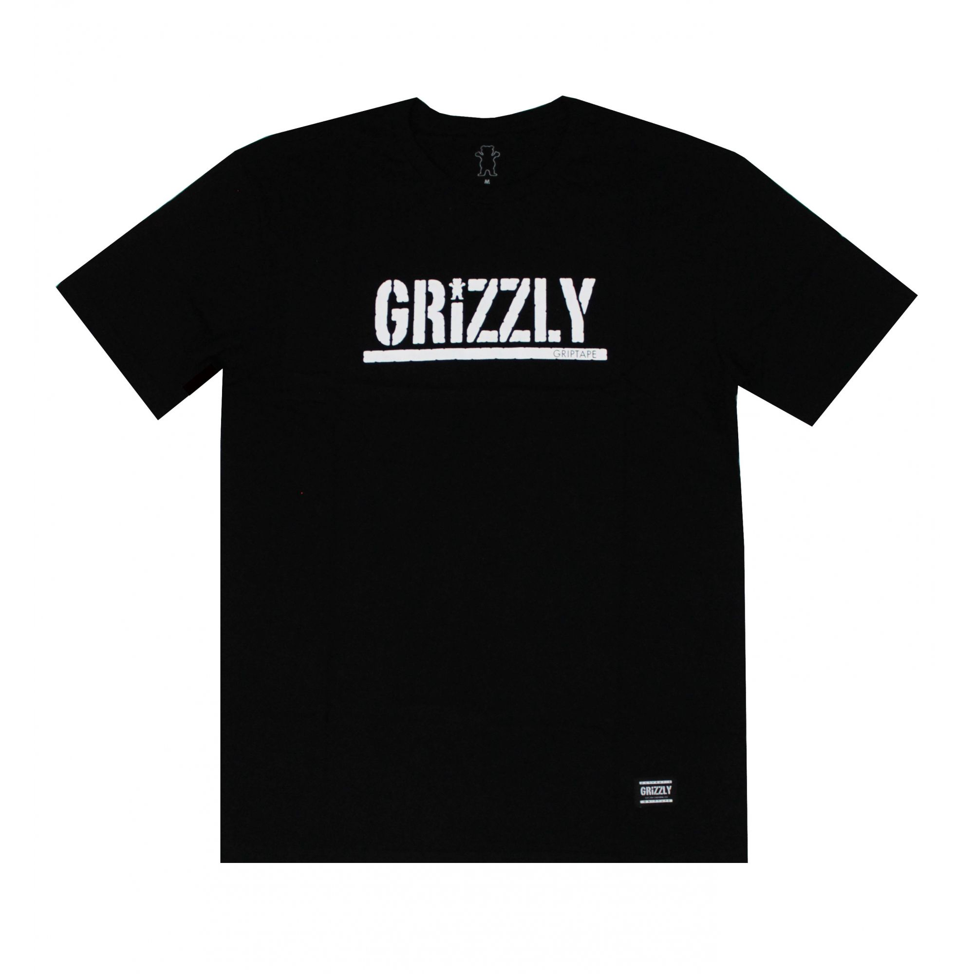 Camiseta Grizzly Classic Stamped - Preto/Branco