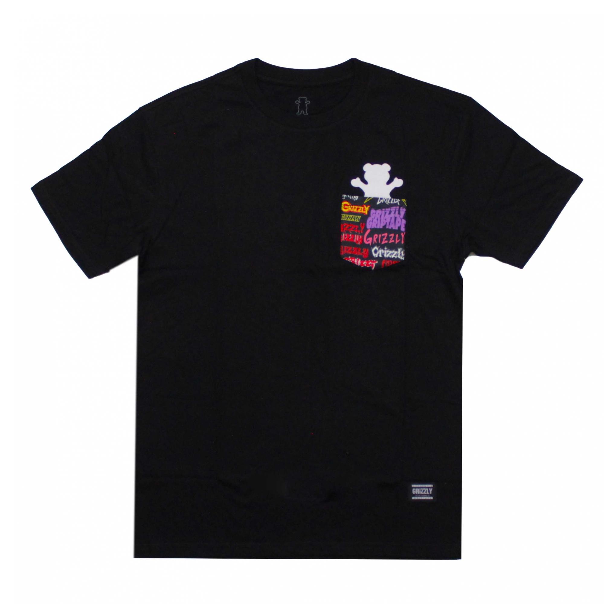 Camiseta Grizzly Com Bolso Grizzlfest Bear - Preto