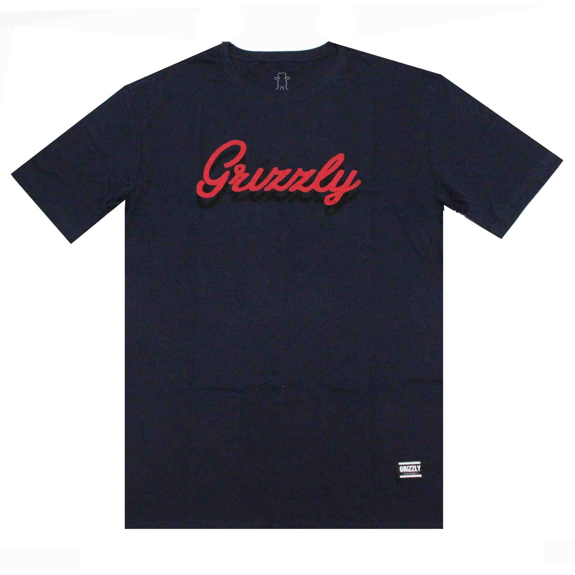Camiseta Grizzly Cursive Blue Navy