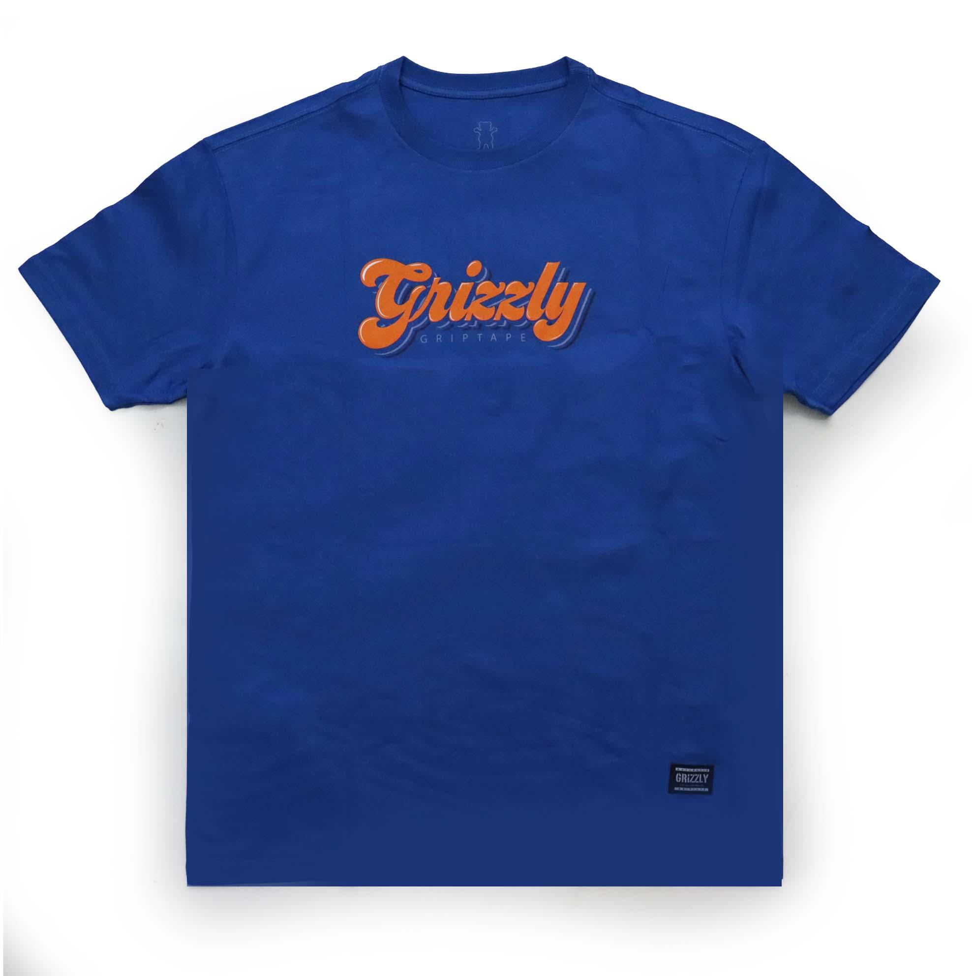 Camiseta Grizzly Disco Strip - Royal