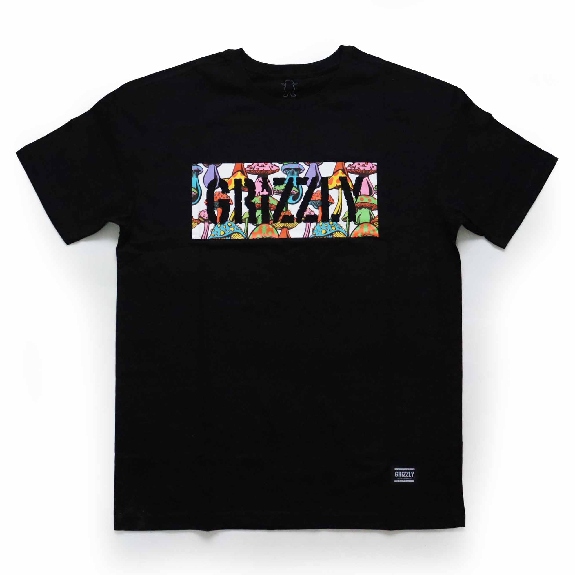 Camiseta Grizzly Fungi Box - Preto