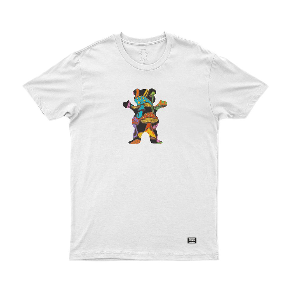 Camiseta Grizzly Fungi Og Bear - Branco