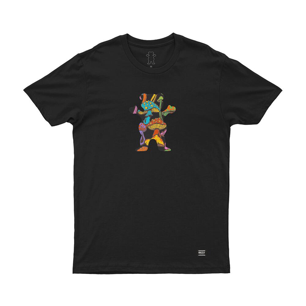 Camiseta Grizzly Fungi Og Bear - Preto