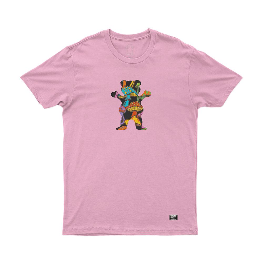 Camiseta Grizzly Fungi Og Bear - Rosa