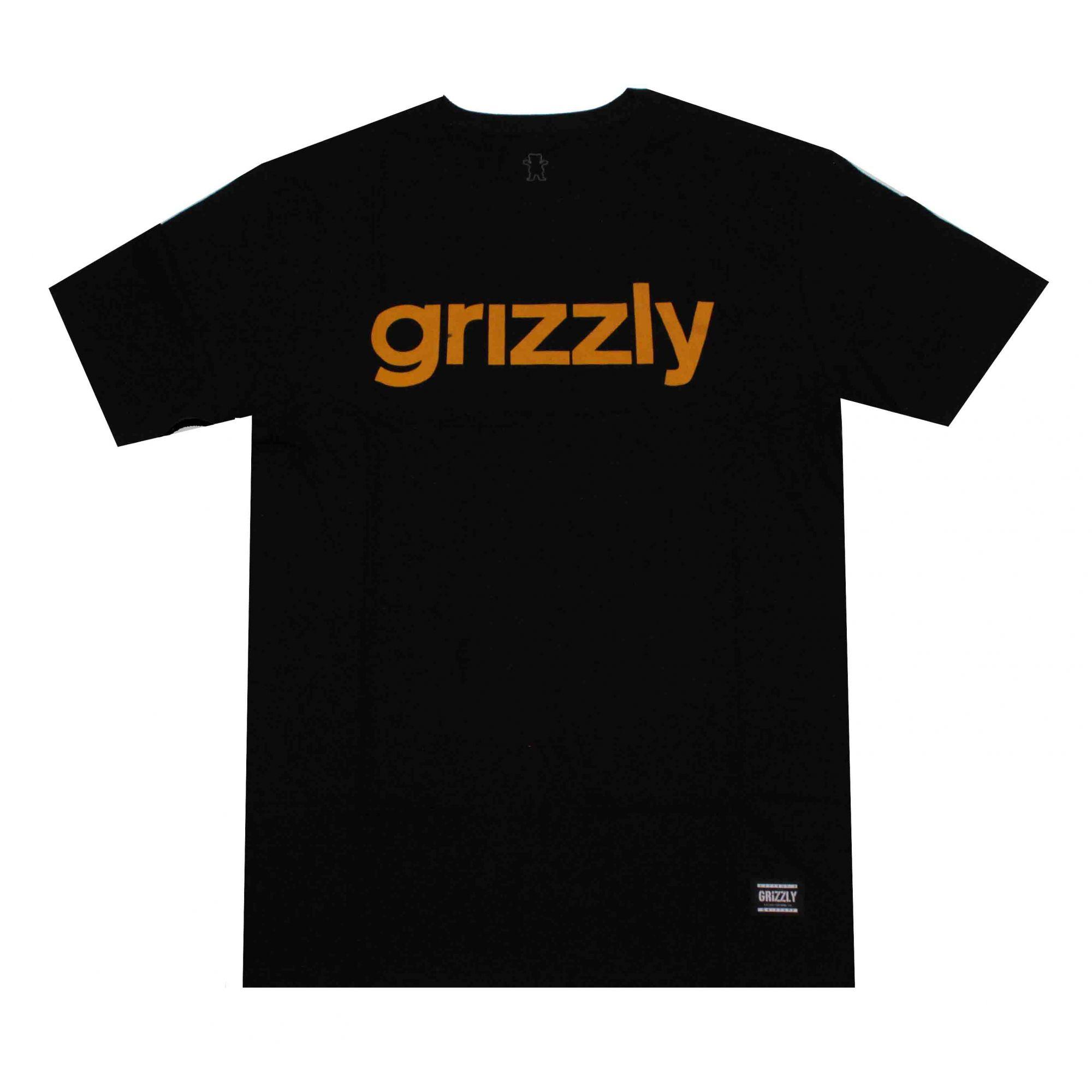 Camiseta Grizzly Lowercase Black