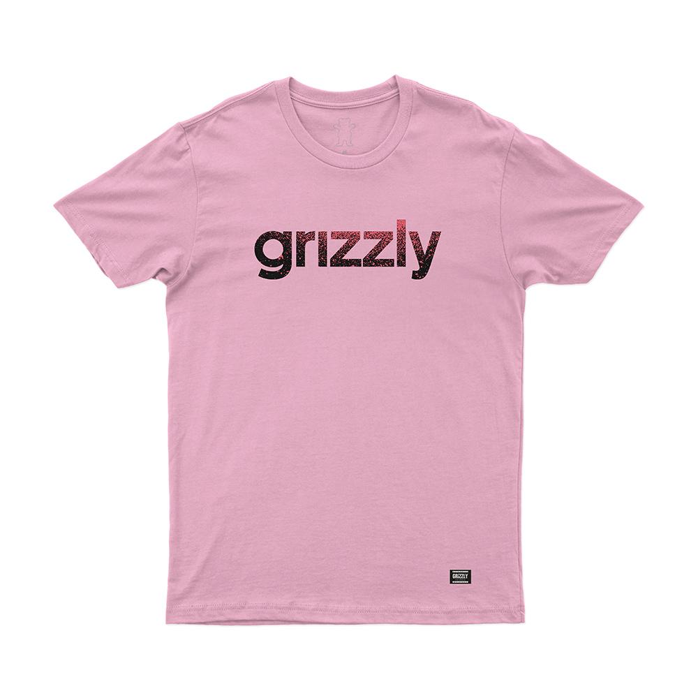 Camiseta Grizzly Lowercase Fadeway - Rosa