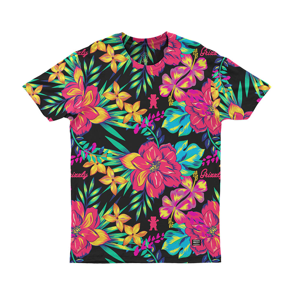 Camiseta Grizzly Maui - Rosa