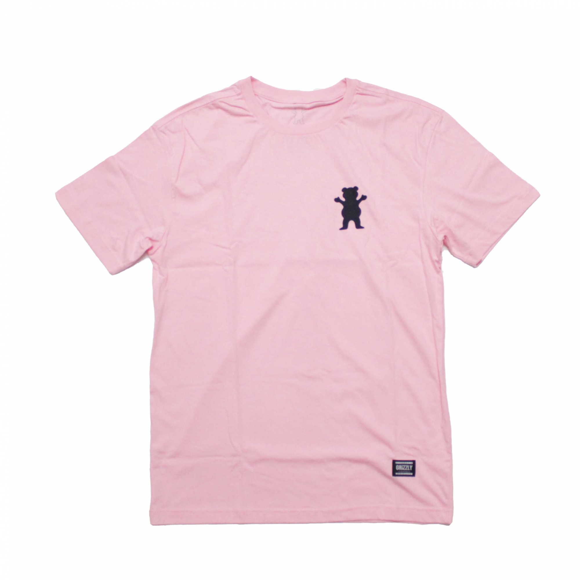 Camiseta Grizzly Mini Og Bear - Rosa/Preto