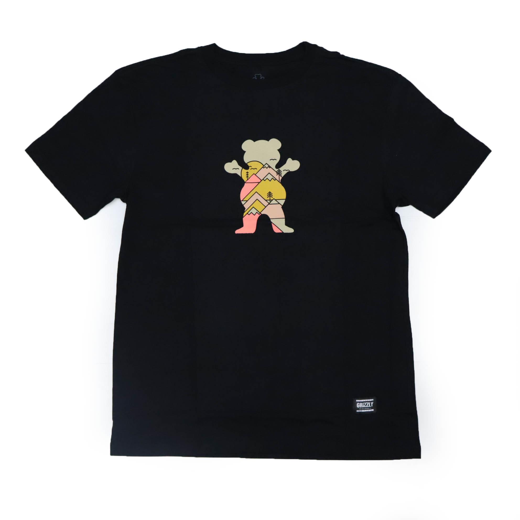 Camiseta Grizzly Mountain Belt - Preto