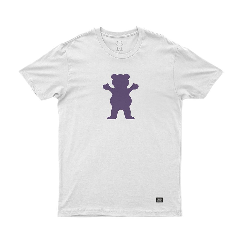 Camiseta Grizzly Og Bear - Branco/Roxo