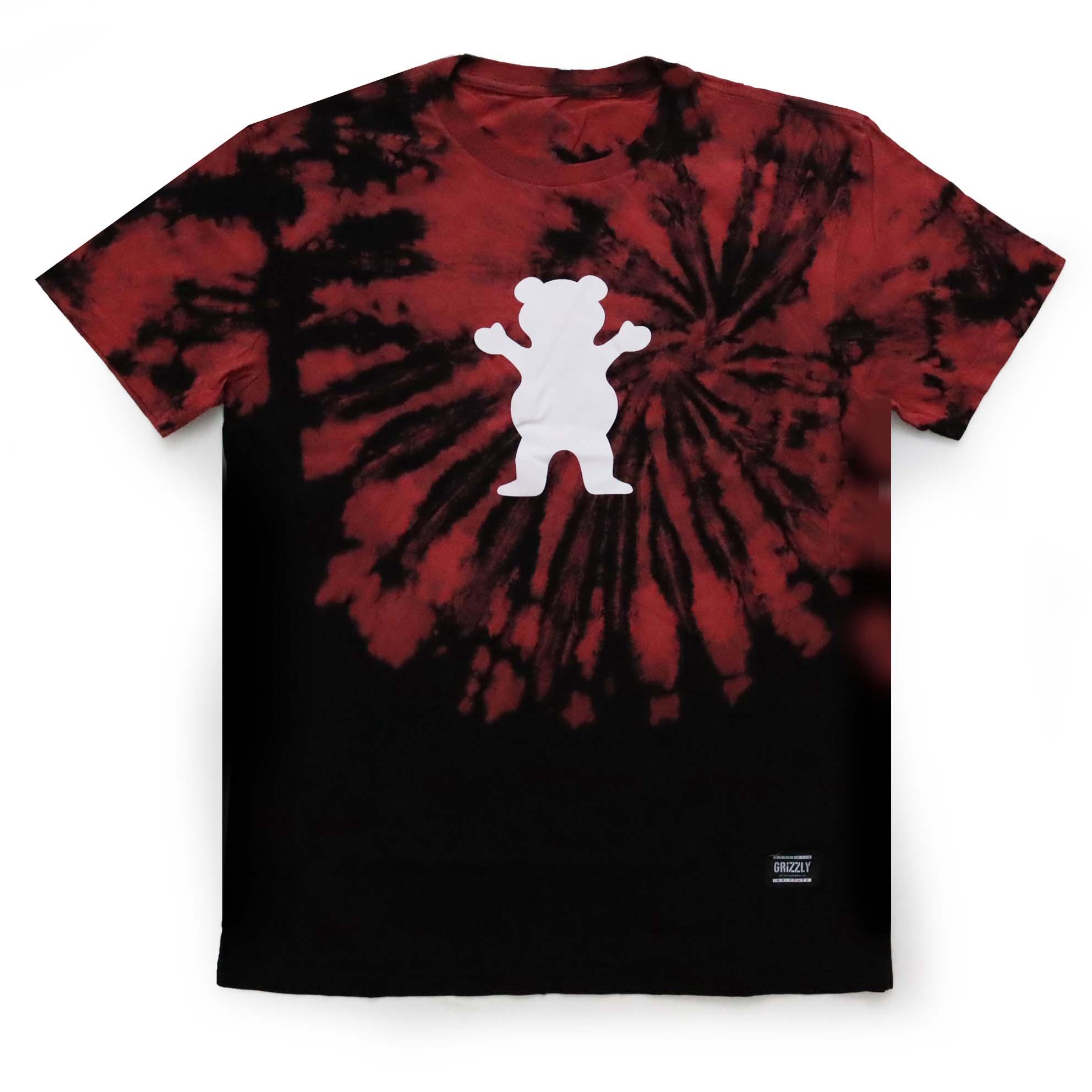 Camiseta Grizzly Og Bear Fruit Punch - Tie Dye