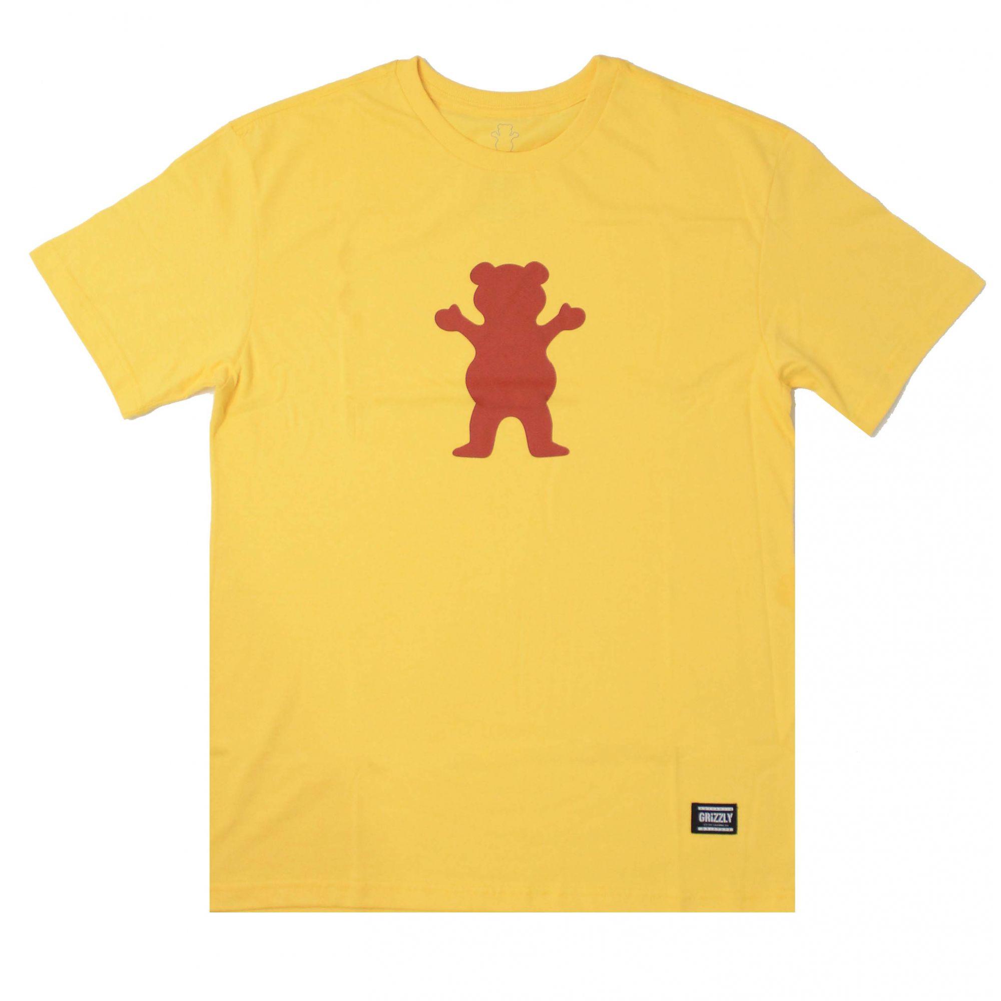 Camiseta Grizzly Og Bear Logo Amarelo