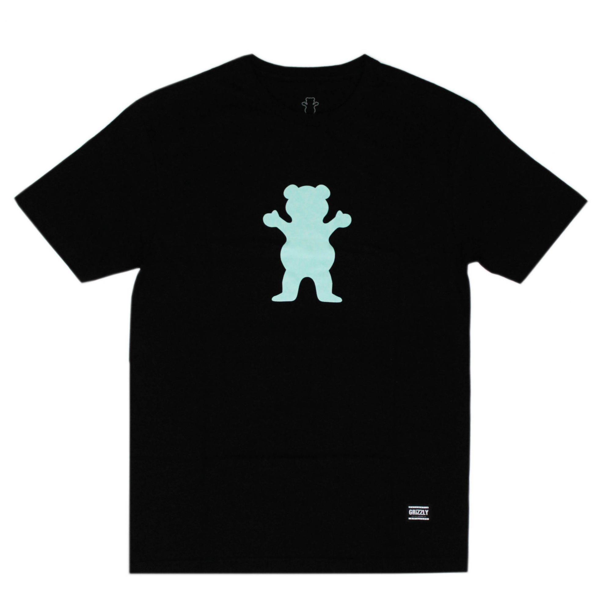 Camiseta Grizzly Og Bear Logo - Preto/Azul