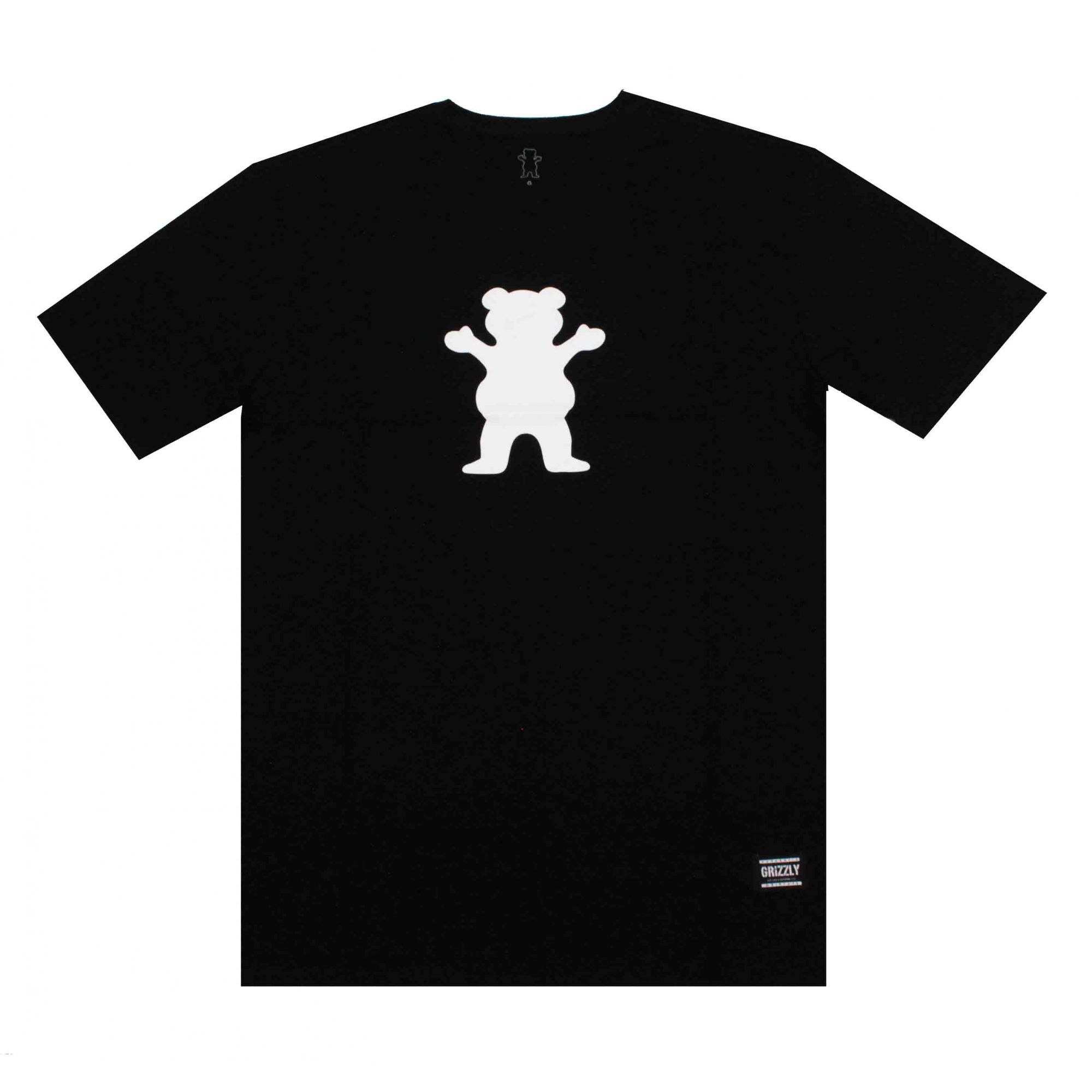 Camiseta Grizzly Og Bear Logo - Preto/Branco