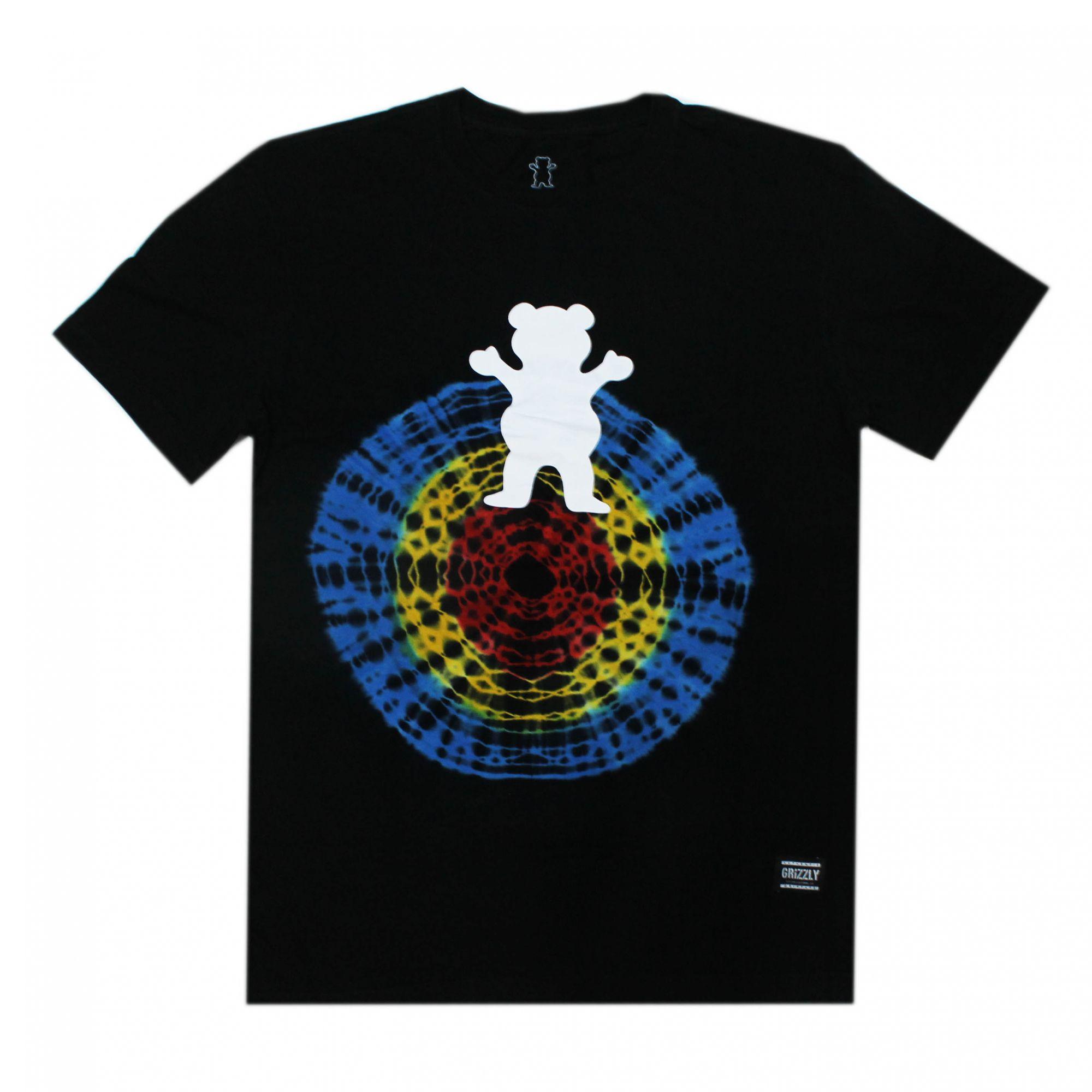 Camiseta Grizzly Og Bear Quartz Tie Dye Preto