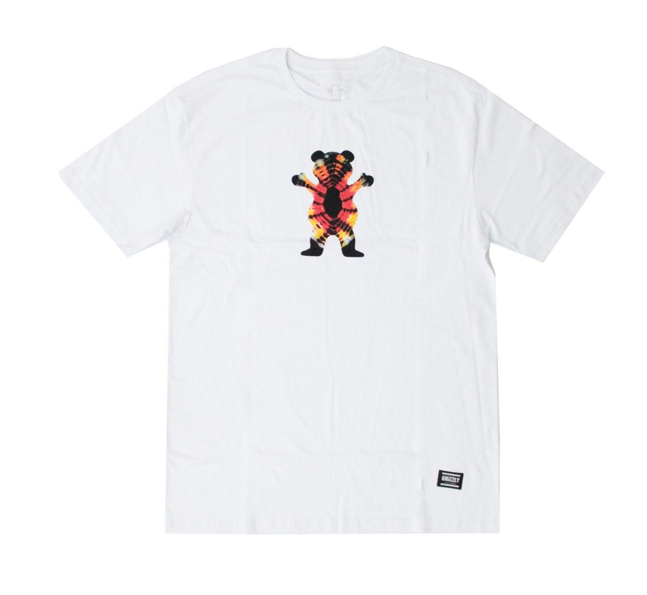 Camiseta Grizzly Og Bear Tie Dye Branco