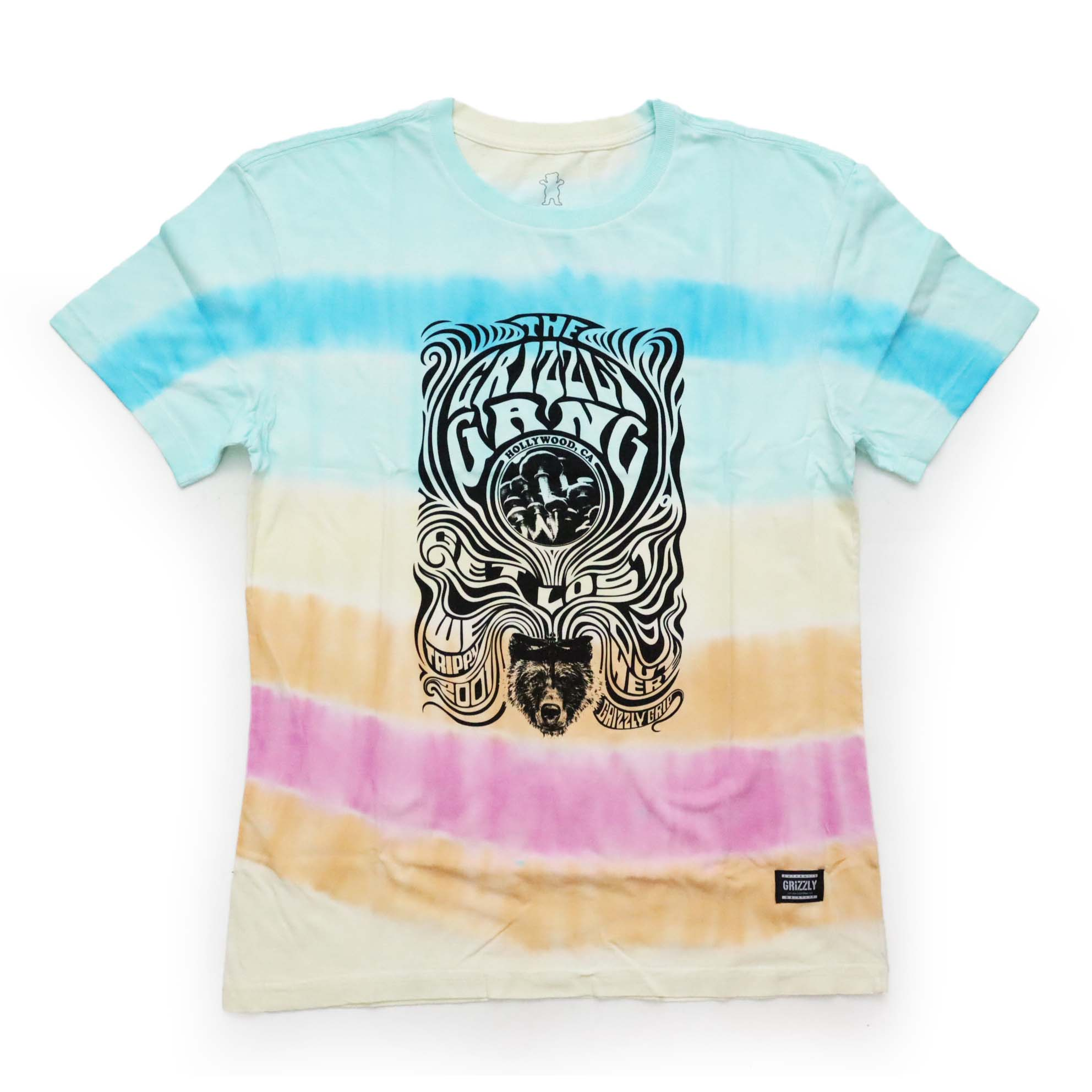Camiseta Grizzly Out Here - Tie Dye
