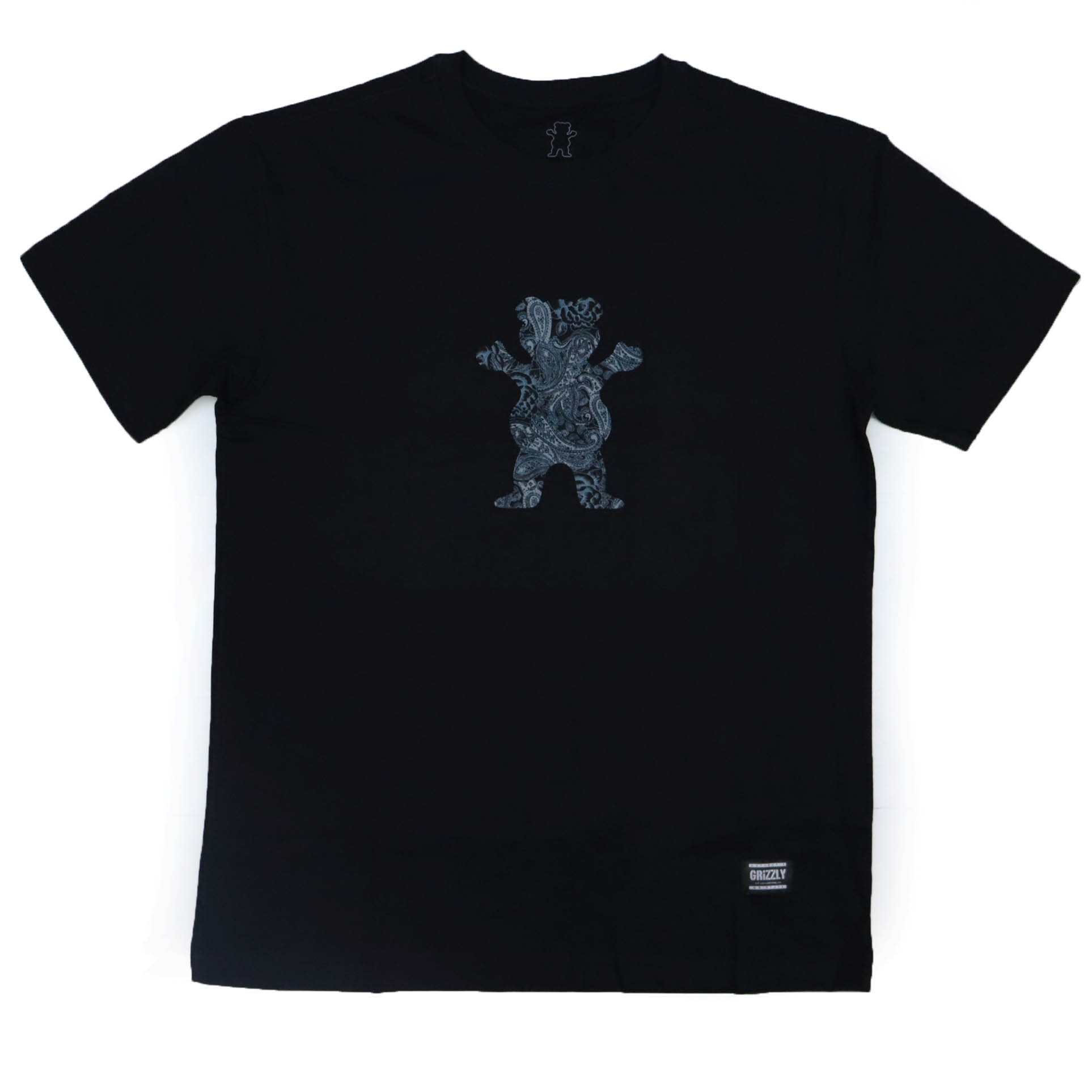Camiseta Grizzly Paisley Og Bear - Preto