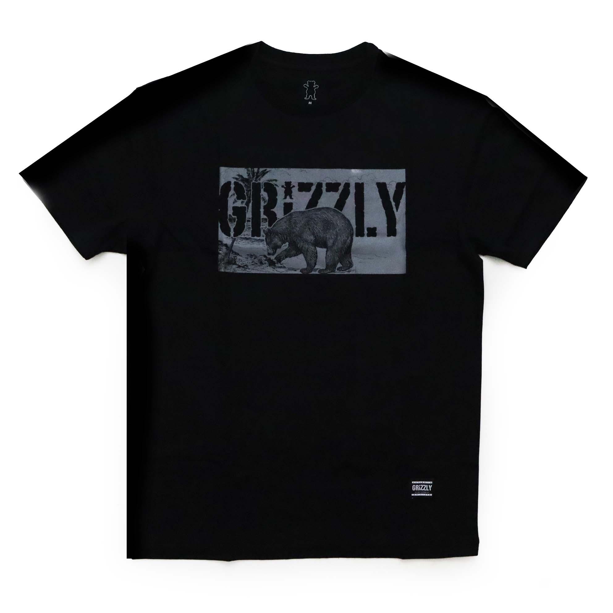 Camiseta Grizzly Paradise - Preto