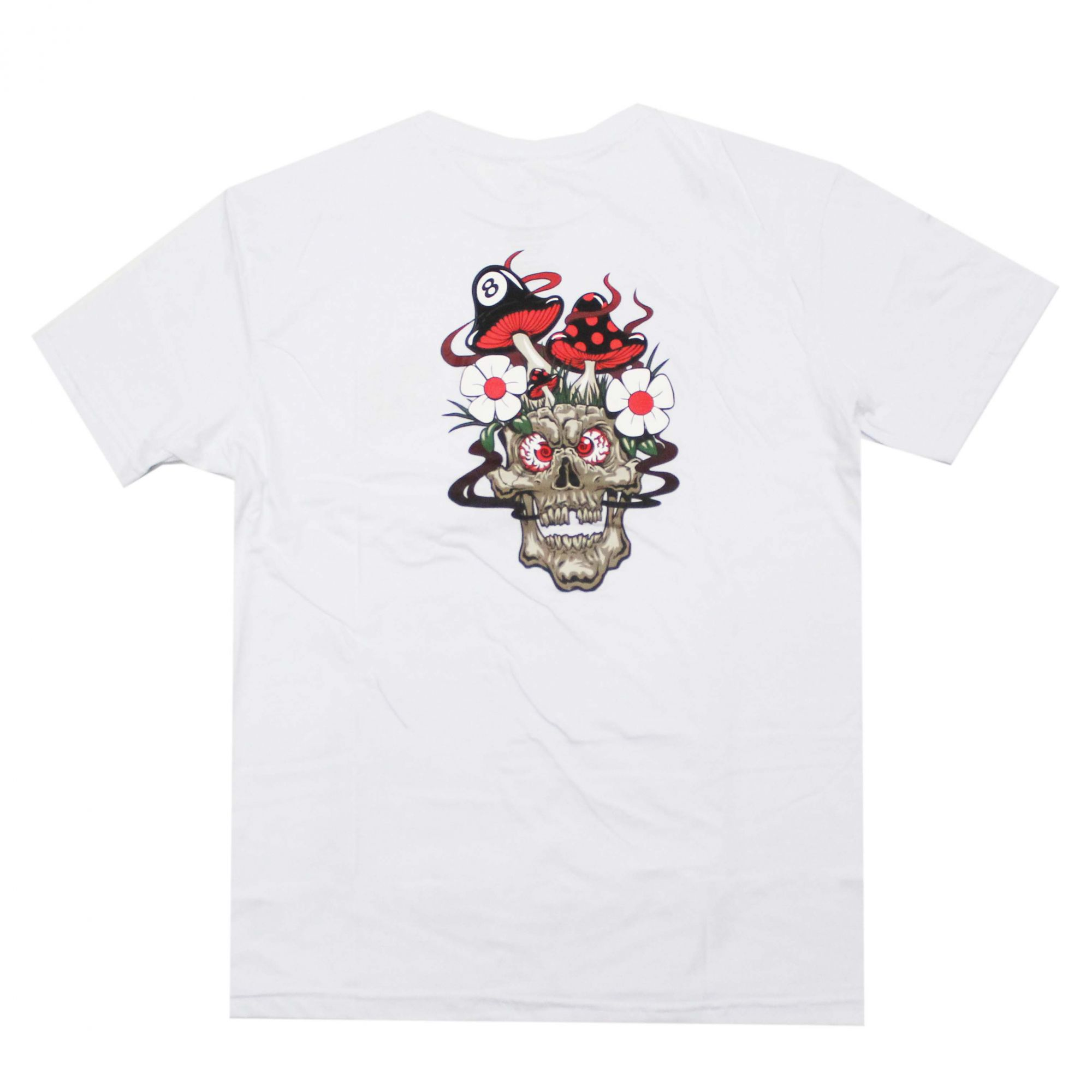 Camiseta Grizzly  Skull Shrooms Branco