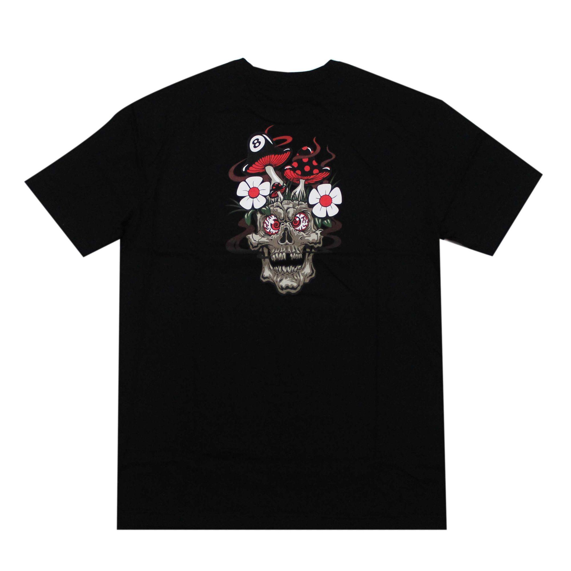 Camiseta Grizzly  Skull Shrooms Preto