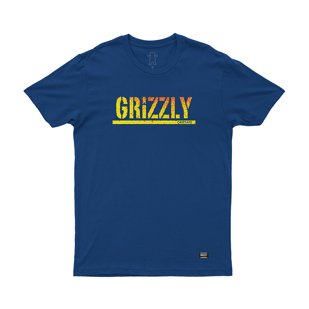 Camiseta Grizzly Stamp Fadeway - Azul Royal