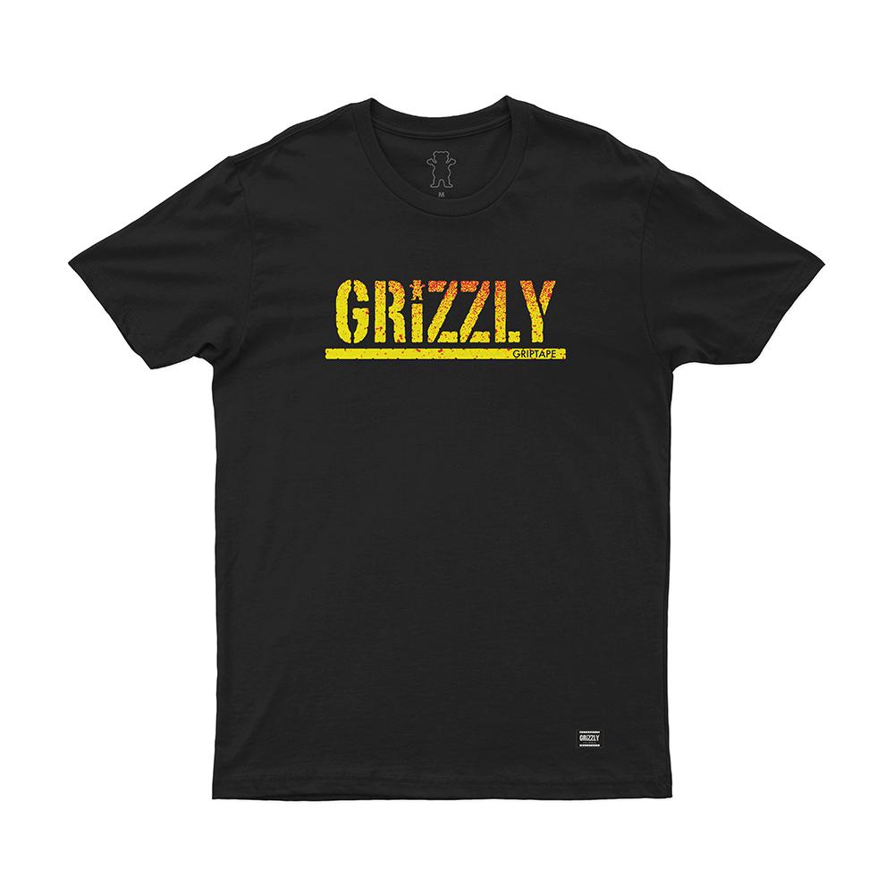 Camiseta Grizzly Stamp Fadeway - Preto