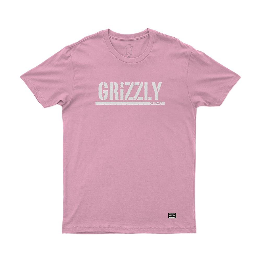 Camiseta Grizzly Stamp - Rosa/Branco