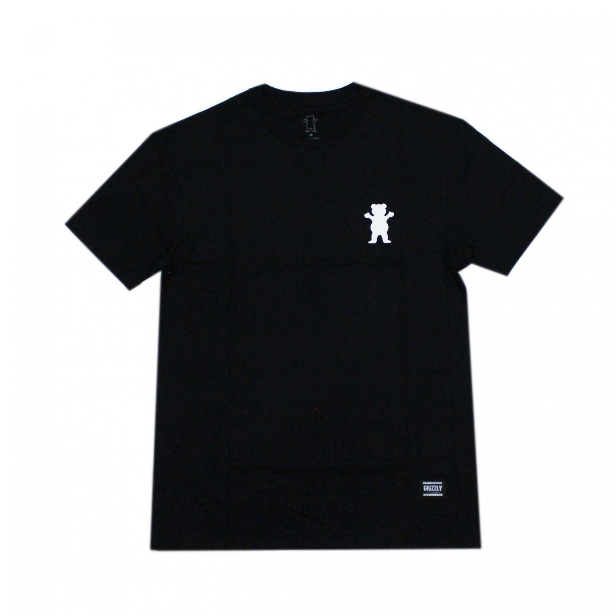 Camiseta Grizzly Stampback Preto