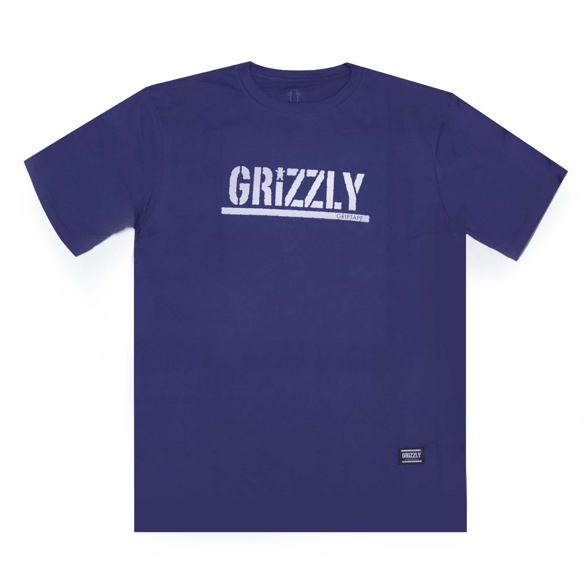 Camiseta Grizzly Stamped - Roxo/Branco