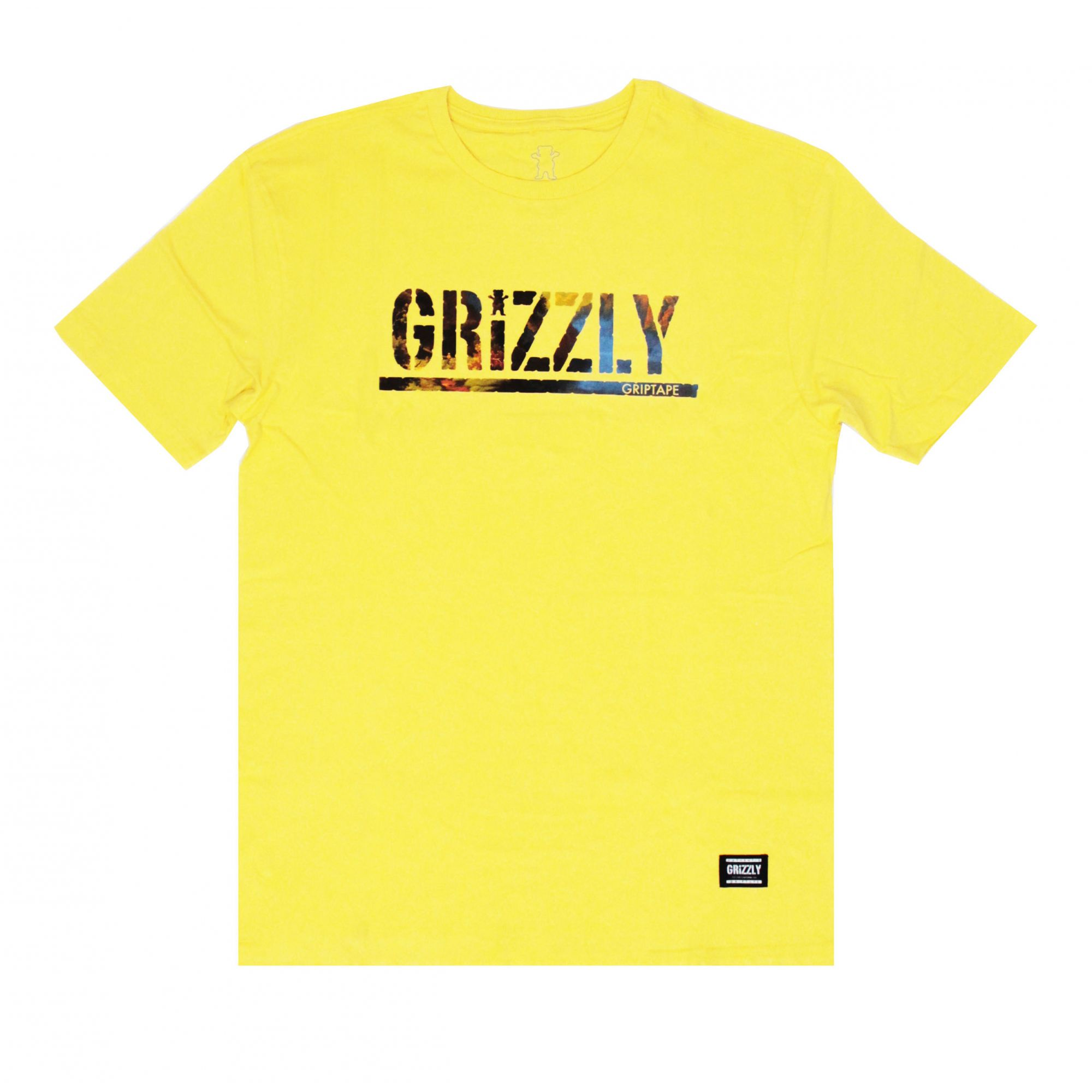 Camiseta Grizzly Stamped Scenic - Amarelo
