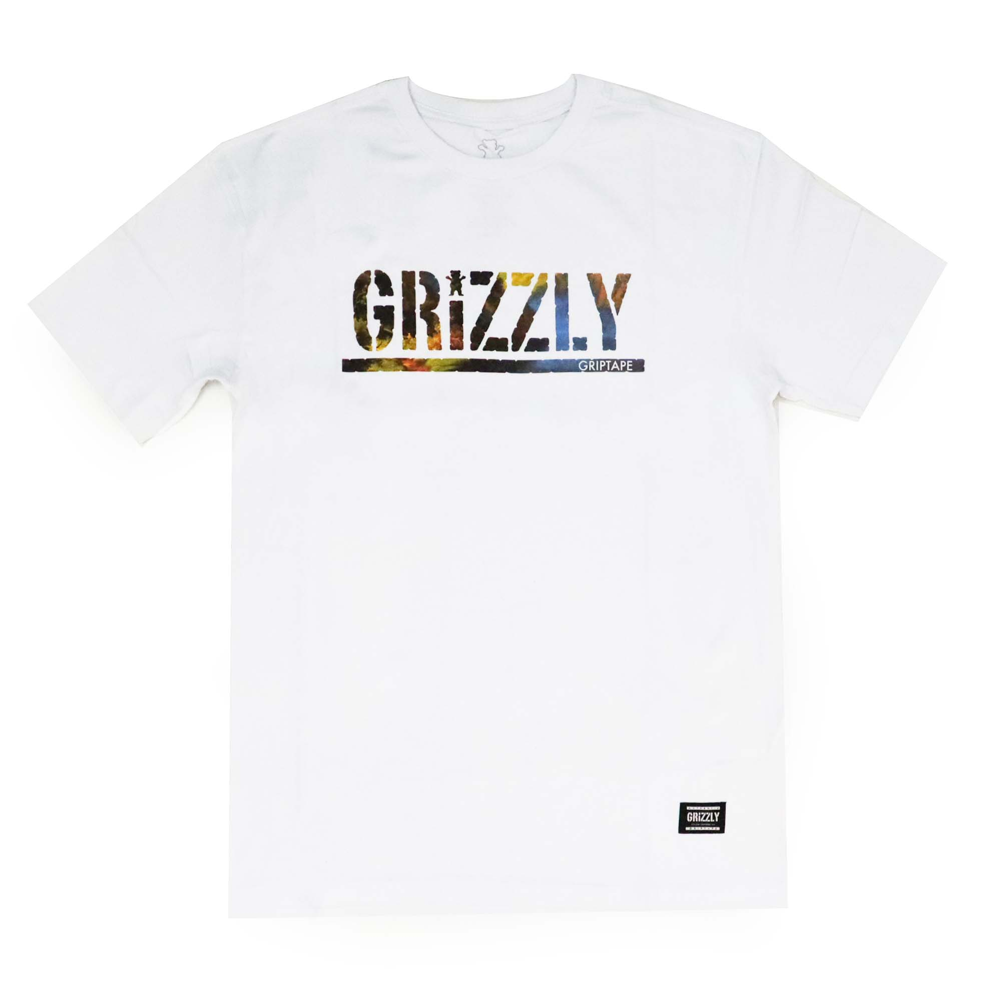 Camiseta Grizzly Stamped Scenic - Branco