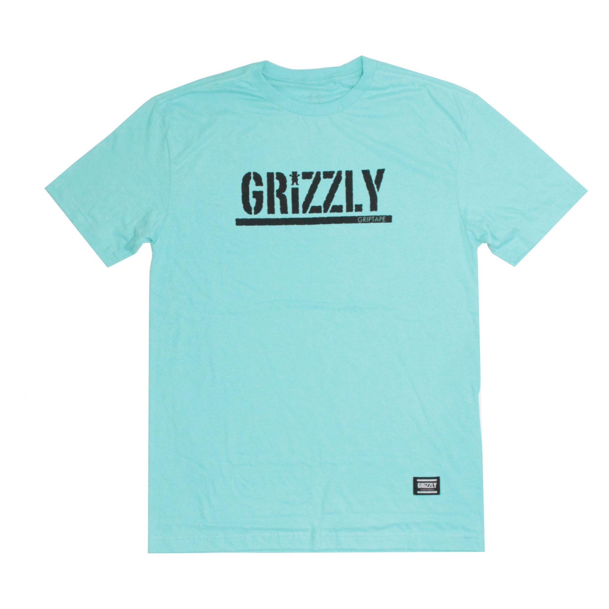 Camiseta Grizzly Stamped - Verde Agua/Preto