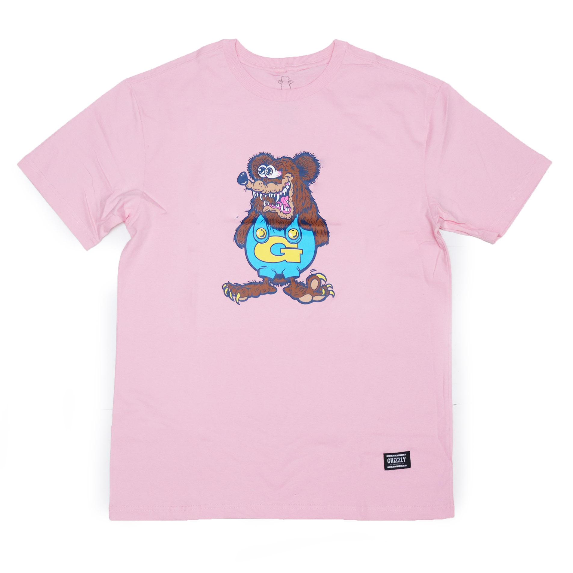 Camiseta Grizzly The Bear - Rosa