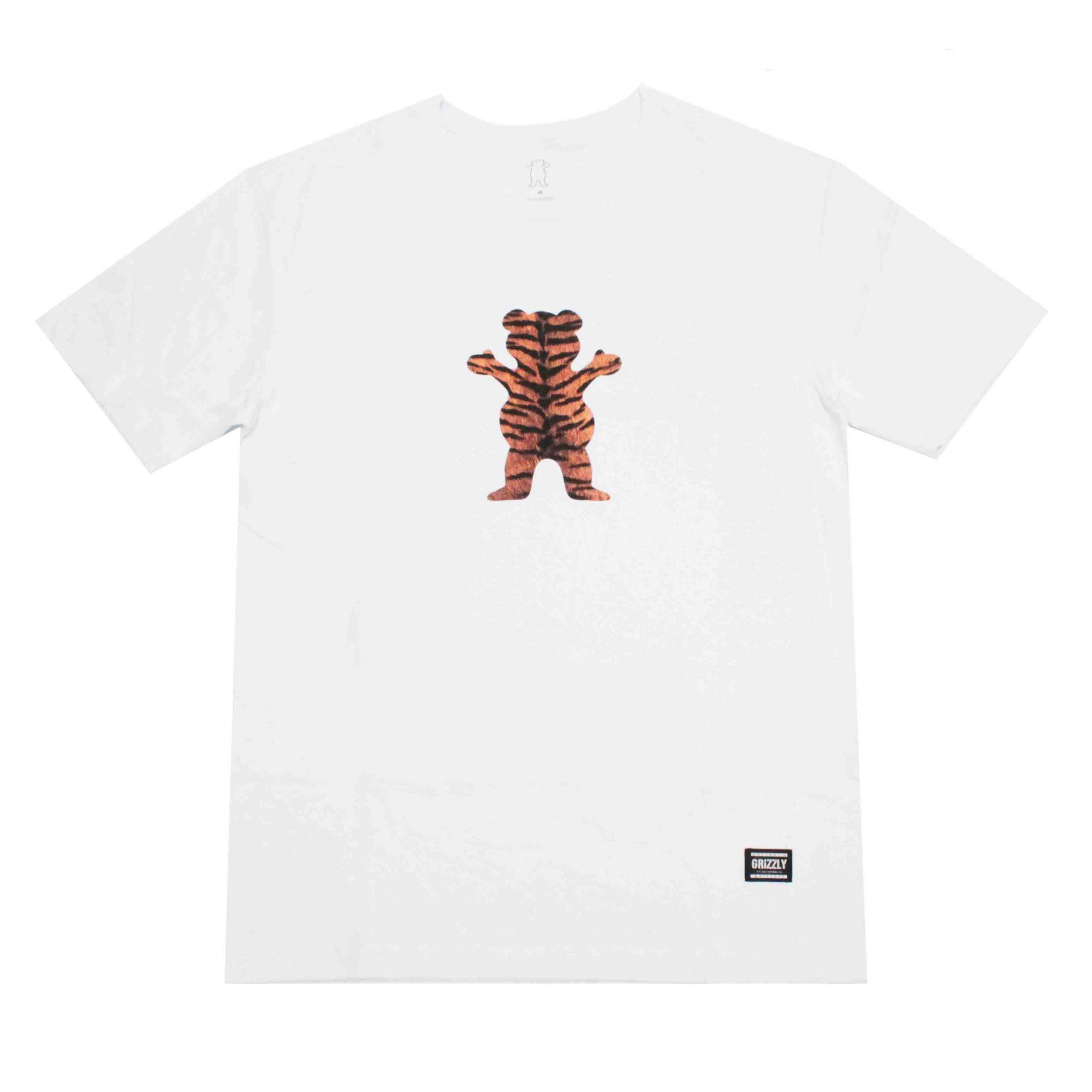Camiseta Grizzly Tiger Stripe White