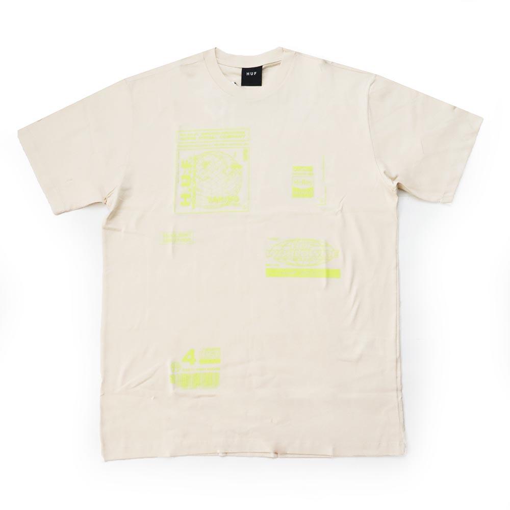 Camiseta HUF Bit 6 - Creme