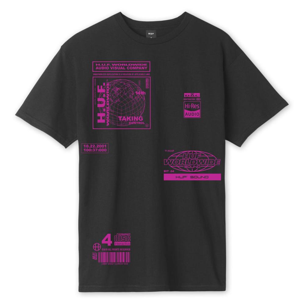 Camiseta HUF Bit 6 - Preto