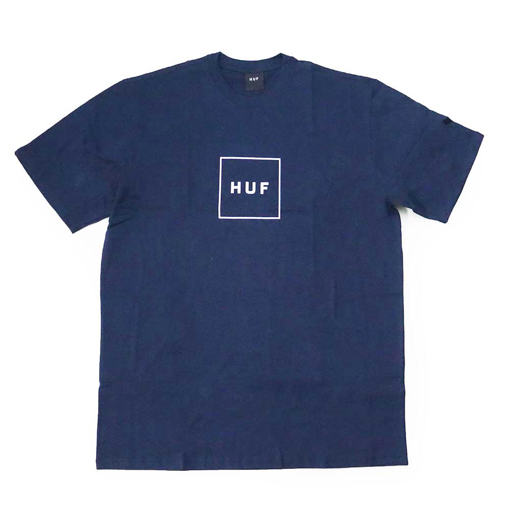 Camiseta HUF Essentials Box - Azul Marinho