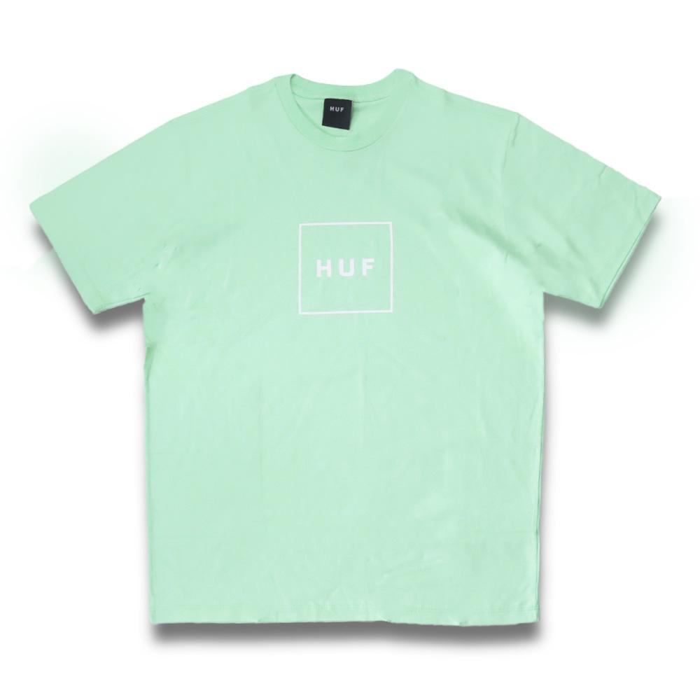 Camiseta HUF Essentials Box - Verde Menta